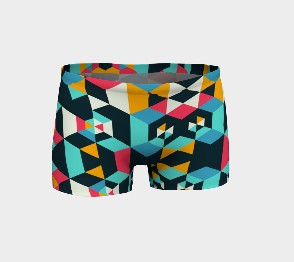 Modern Colorful Geometric Shorts preview #1