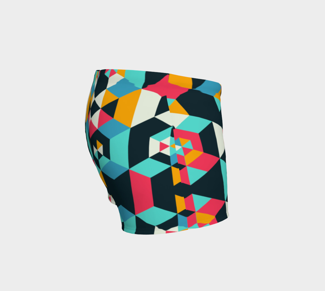 Modern Colorful Geometric Shorts preview #3
