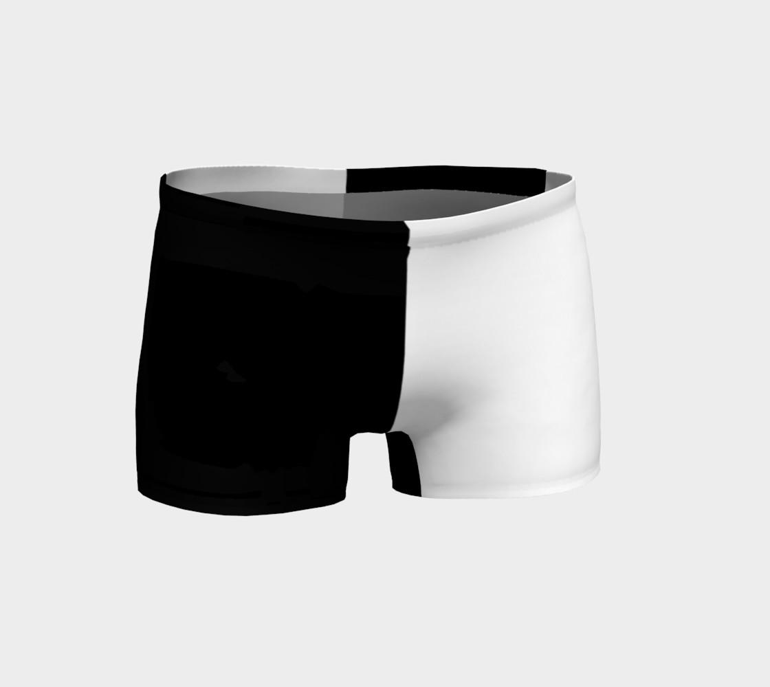 Aperçu de Black and White Ladies Shorts #1