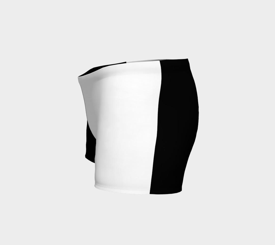 Aperçu de Black and White Ladies Shorts #2