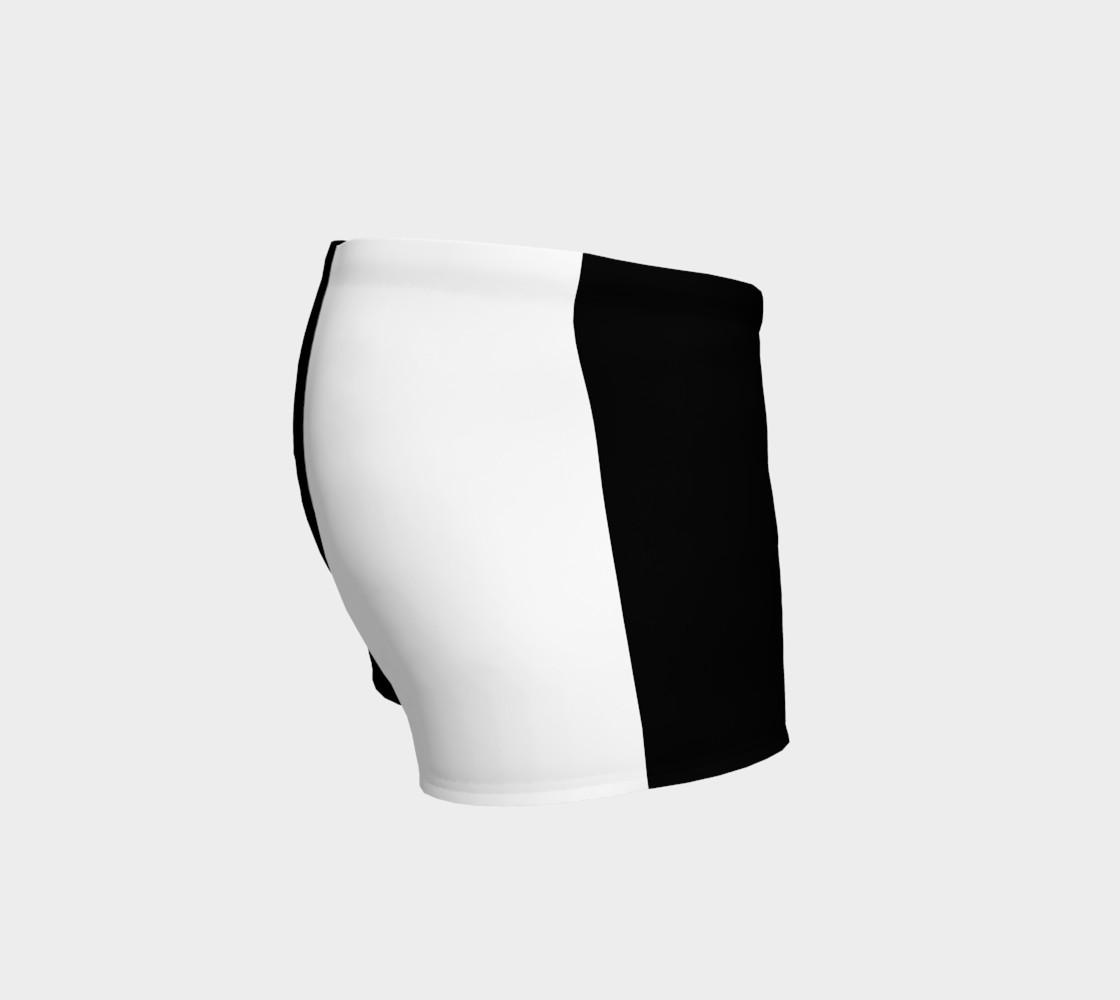 Aperçu de Black and White Ladies Shorts #3
