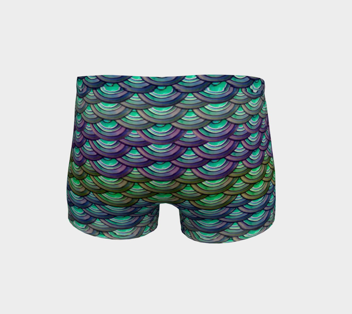 Mermaid, Serpent, Watercolor, Dragon Scales Shorts preview #4