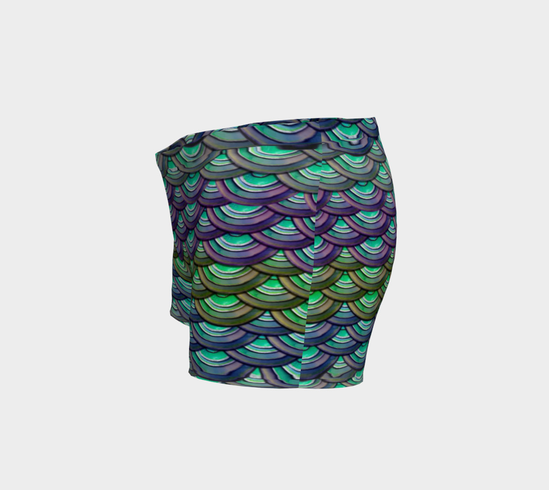 Mermaid, Serpent, Watercolor, Dragon Scales Shorts preview #2