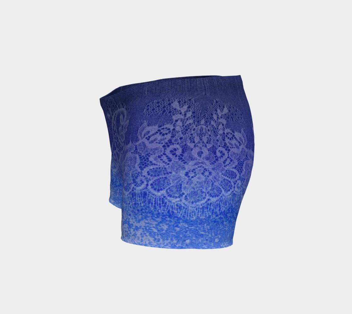 Aperçu de Lace Watercolor Ombre Blue Shorts #2