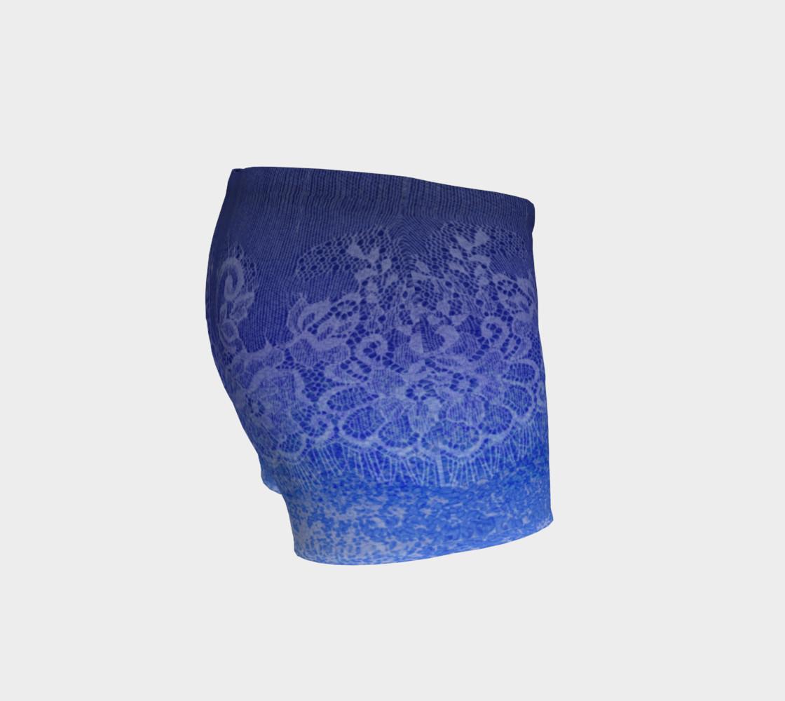 Aperçu de Lace Watercolor Ombre Blue Shorts #3