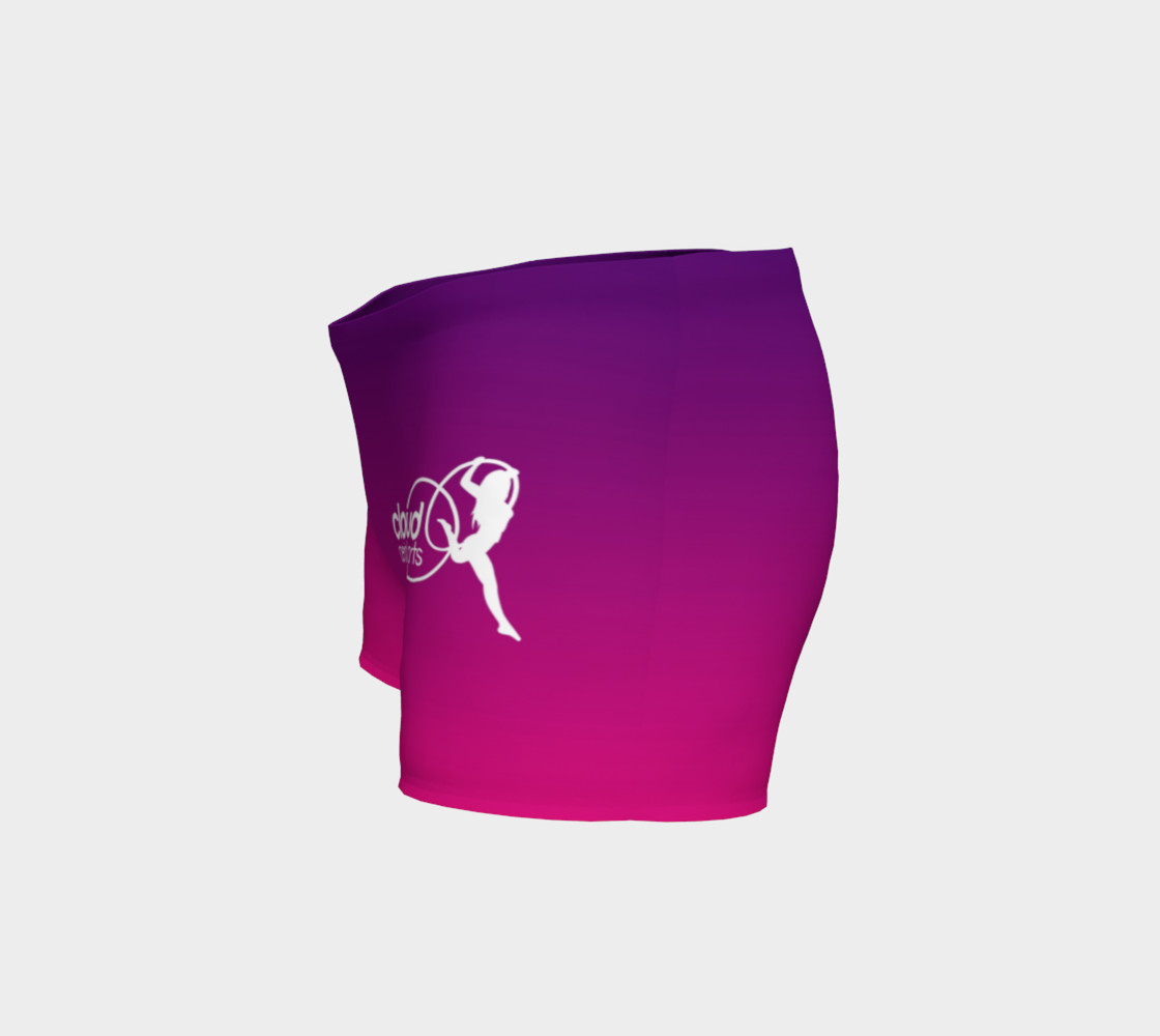 ombre shorts pink purple preview #2