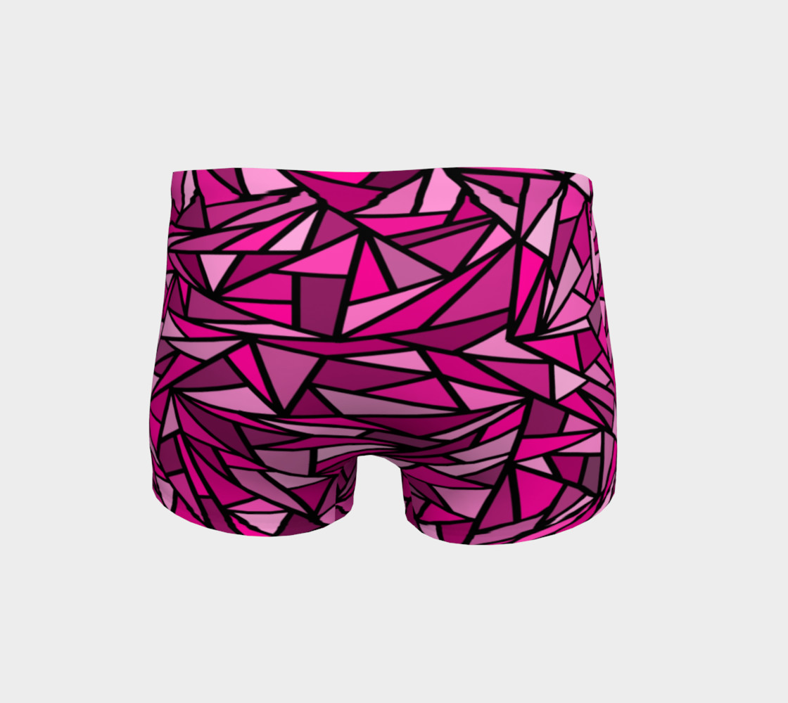 Pink Abstract Shorts preview #4