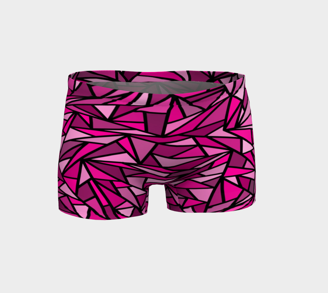 Pink Abstract Shorts preview #1