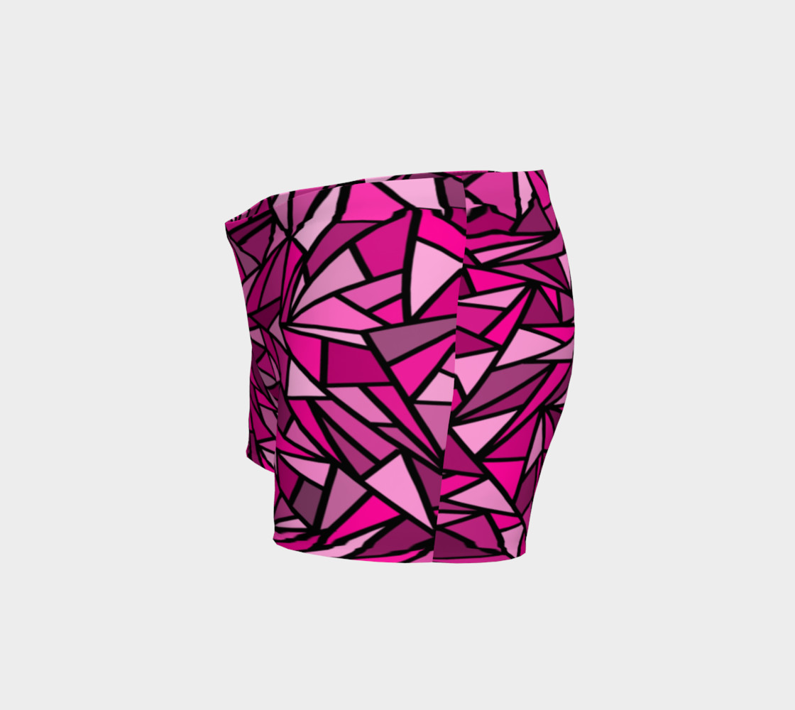Pink Abstract Shorts preview #2