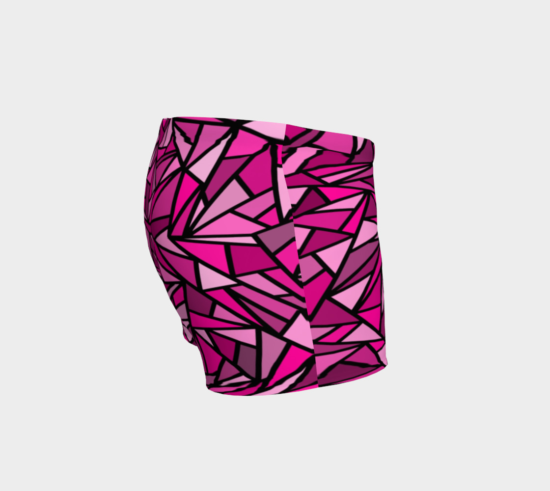 Pink Abstract Shorts preview #3