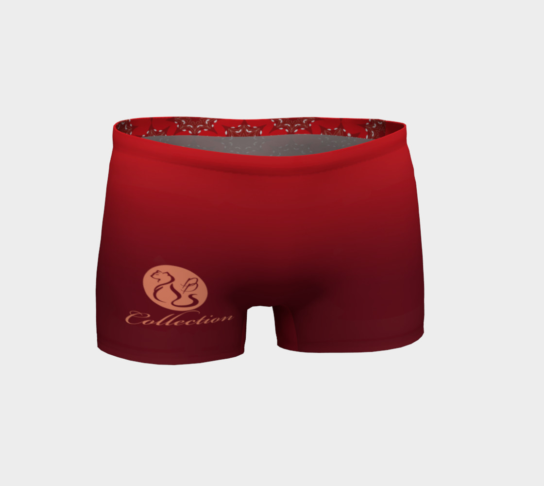 Aperçu de Platinum P Collection Workout Shorts Red Star Mandala Pattern #1