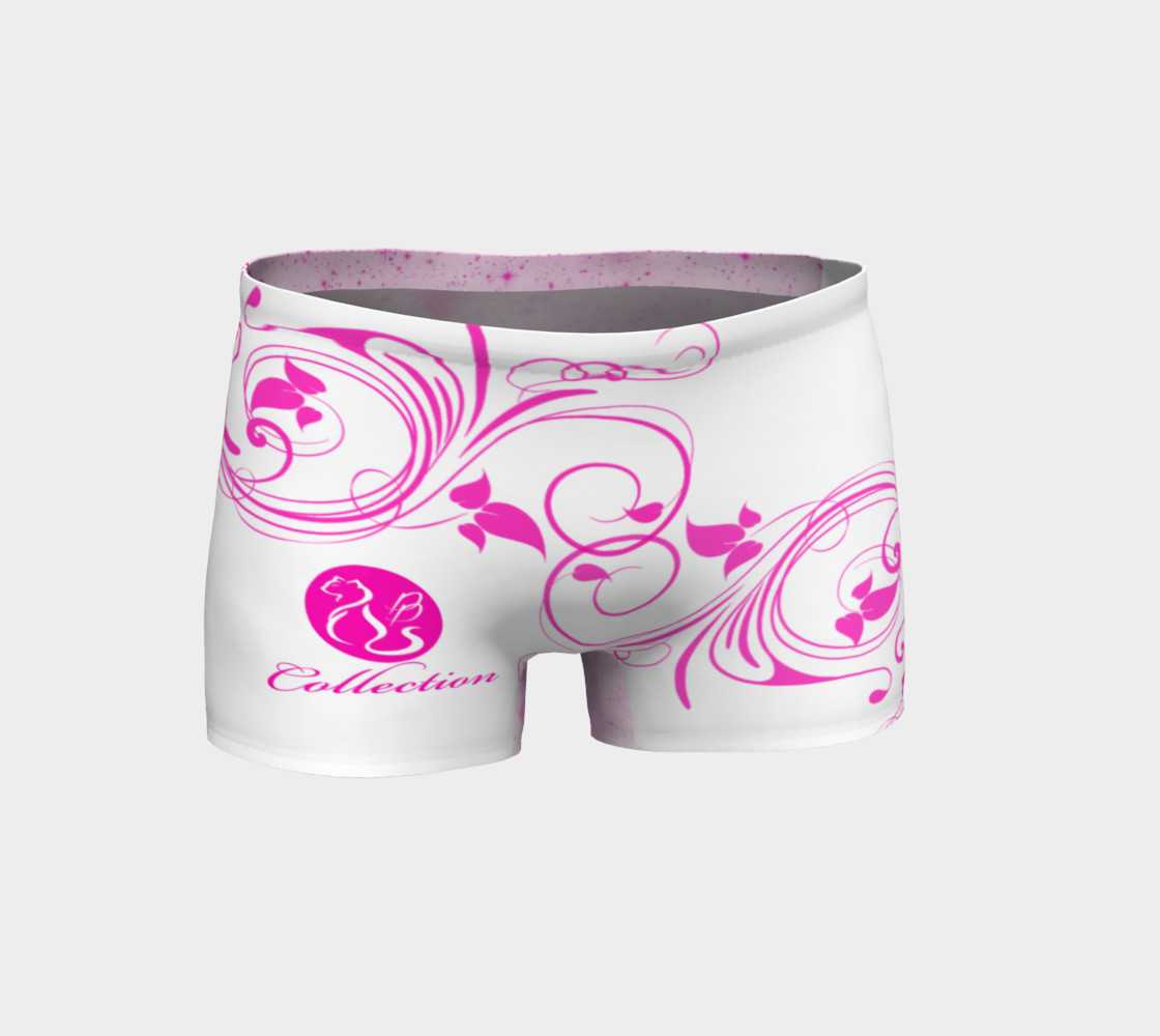 Platinum P Collection Workout Shorts Pink Floral Pattern thumbnail #2