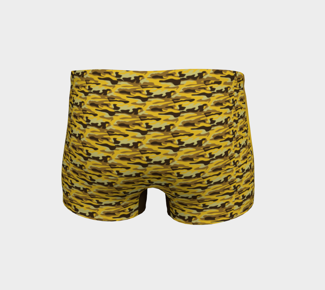 Platinum P Collection Workout Shorts Camo Yellow preview #4