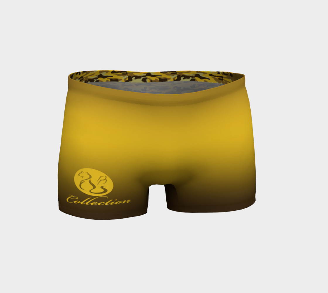 Platinum P Collection Workout Shorts Camo Yellow preview #1