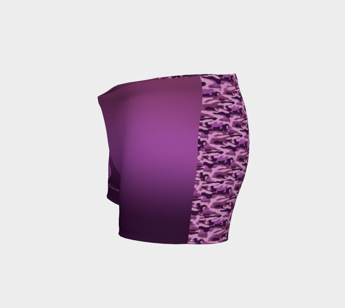 Aperçu de Platinum P Collection Workout Shorts Purple Camo #2