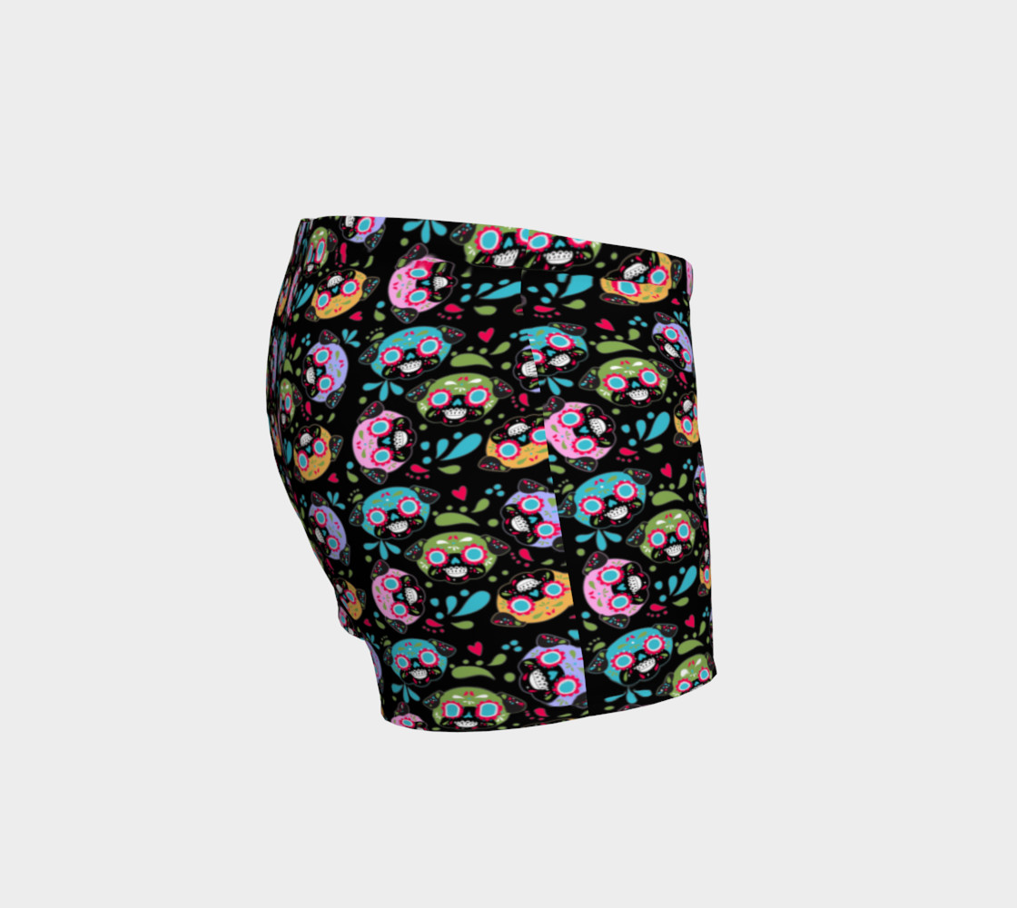 Aperçu de Pug Sugar Skulls Bike Shorts #3