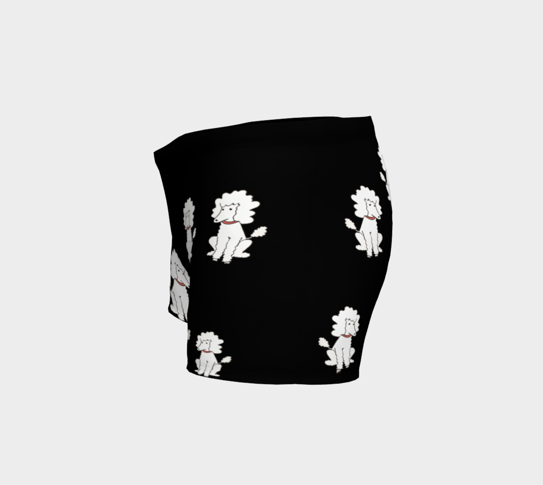 Shorts - Black with White Poodles preview #2