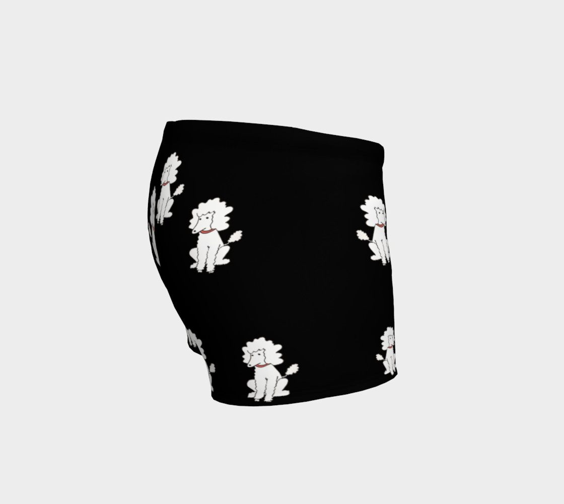 Shorts - Black with White Poodles preview #3