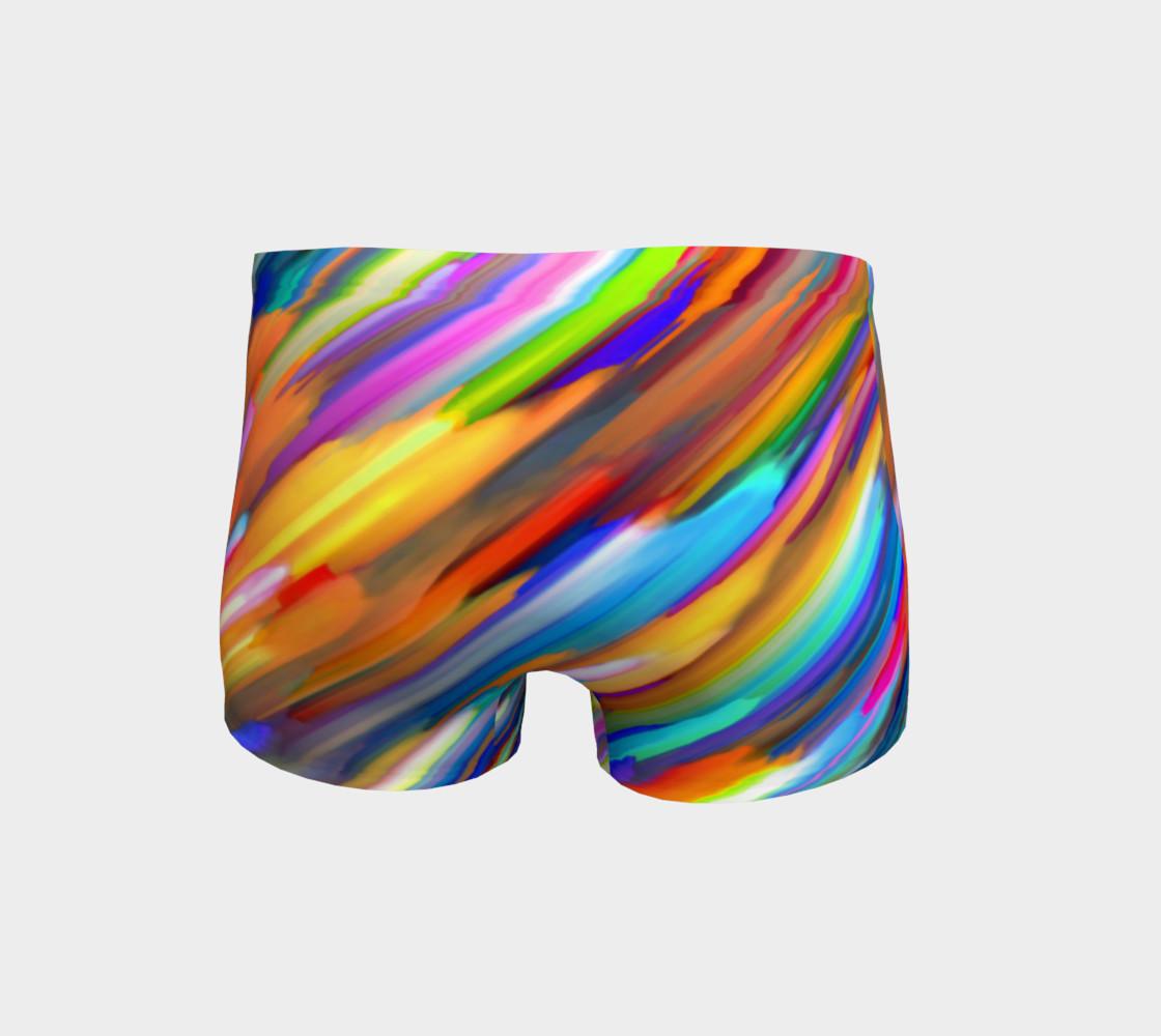Colorful digital art splashing G391 Shorts preview #4