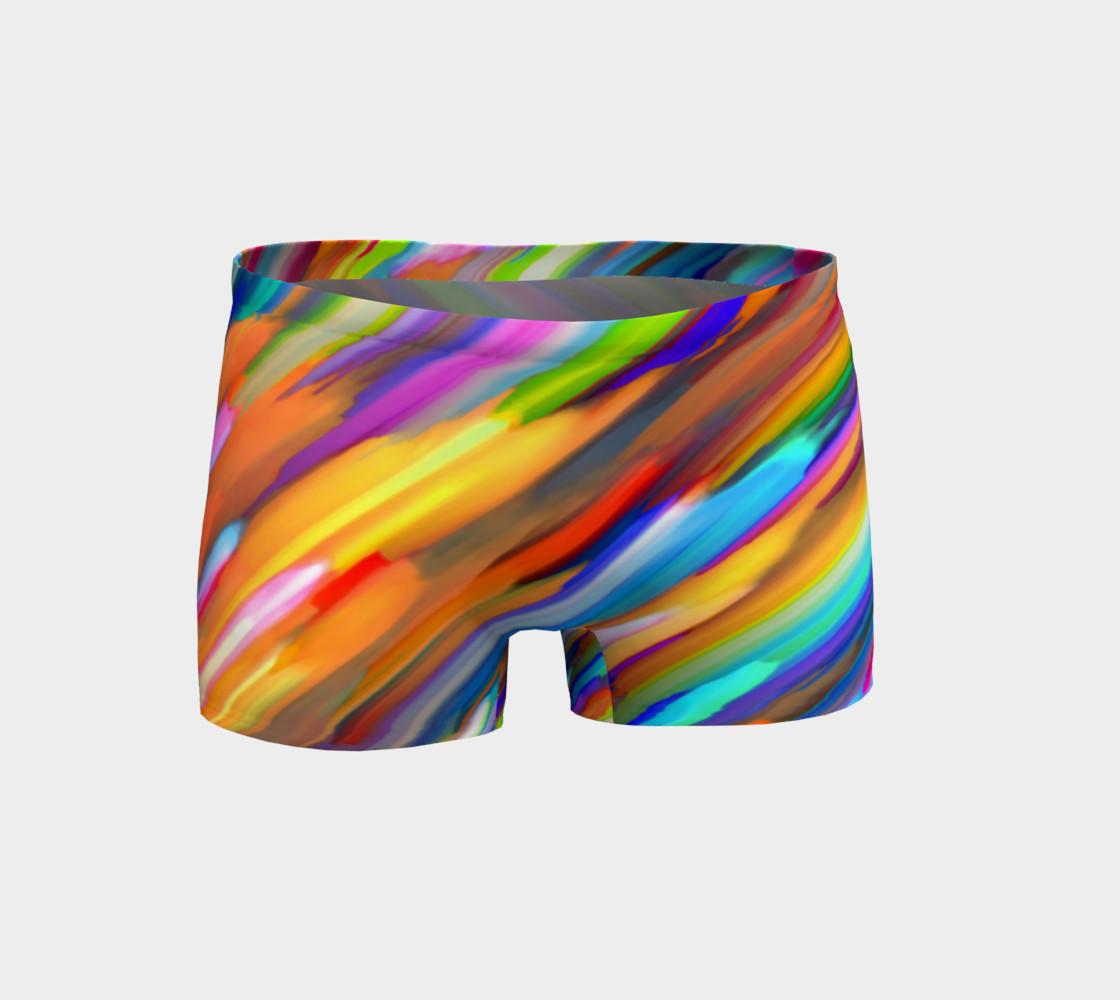 Colorful digital art splashing G391 Shorts preview #1