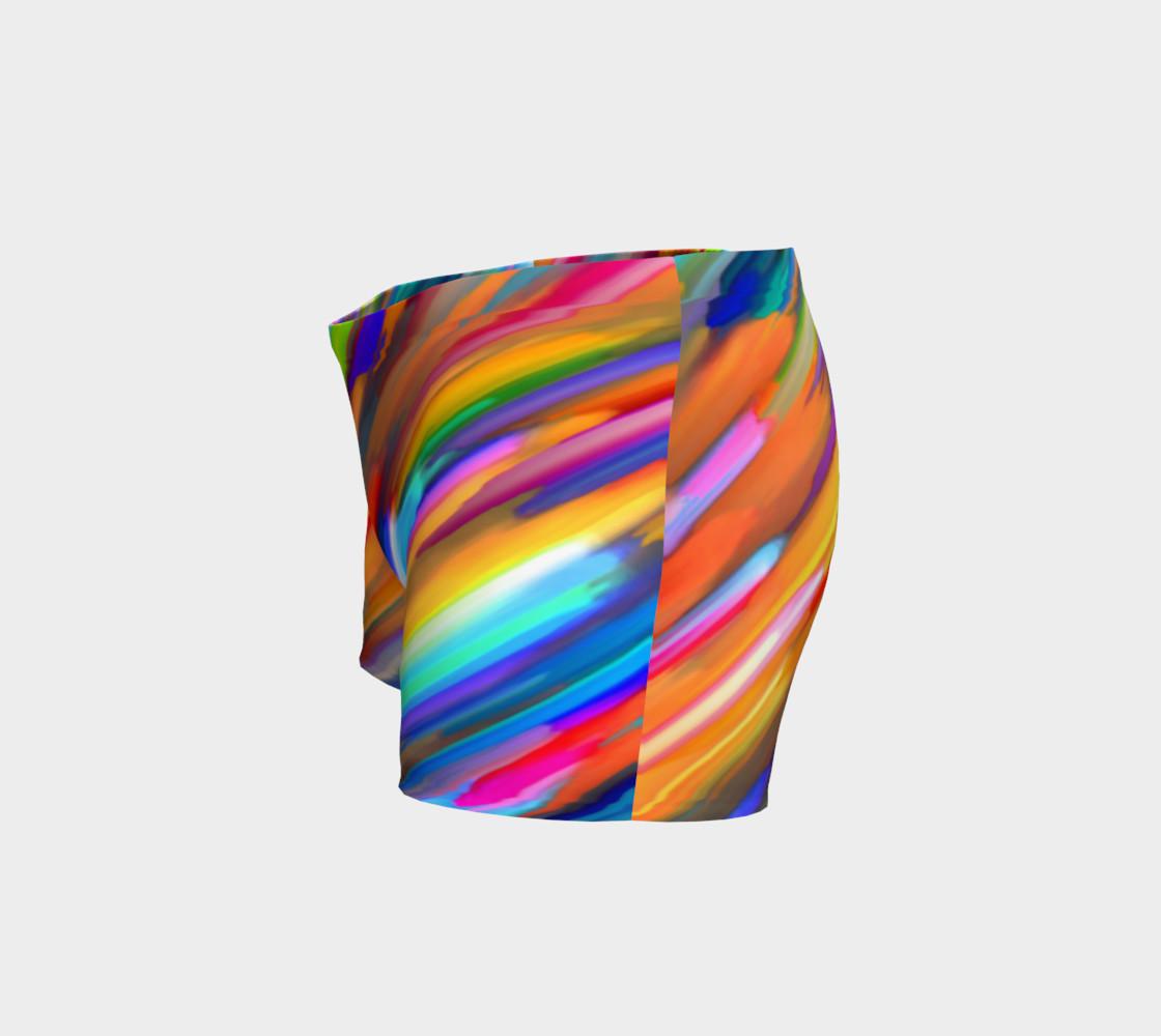 Colorful digital art splashing G391 Shorts preview #2