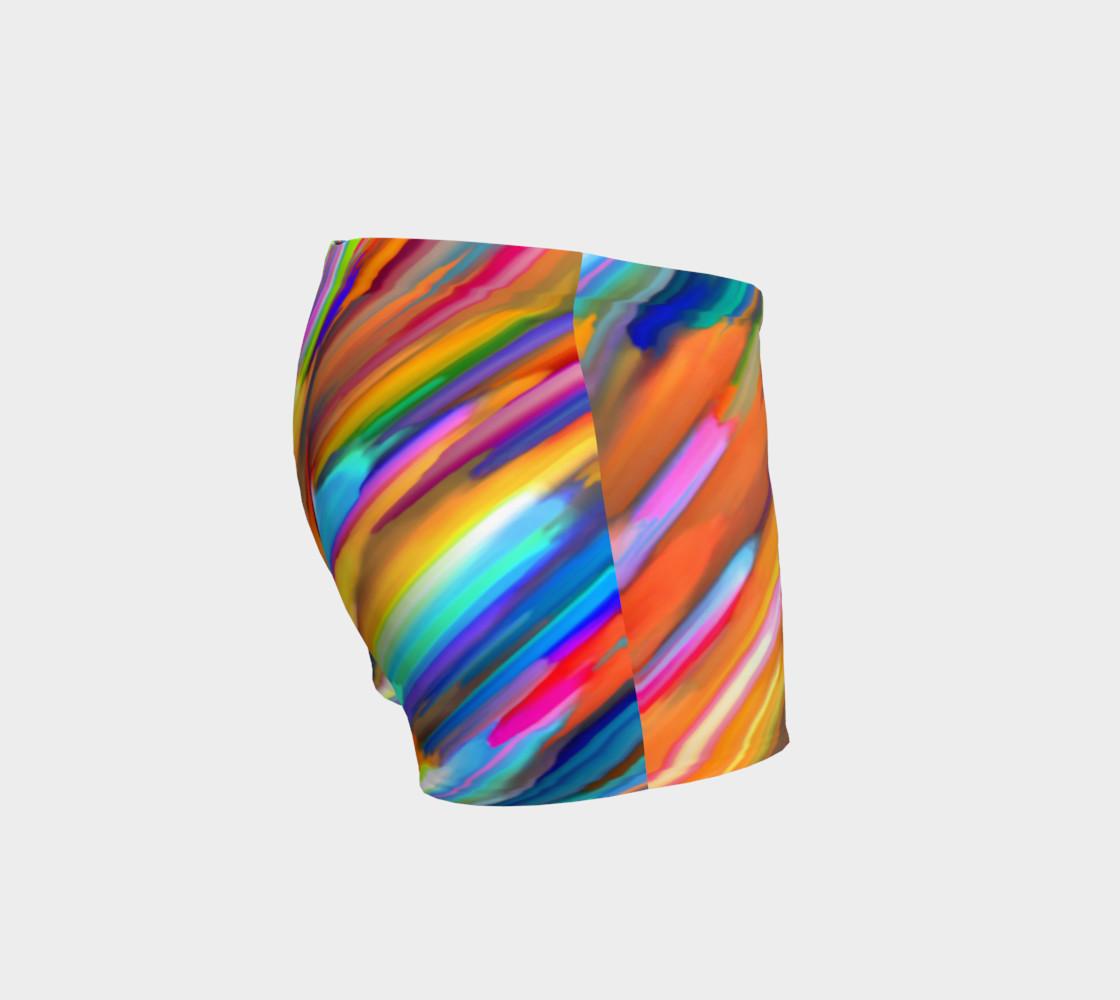 Colorful digital art splashing G391 Shorts preview #3