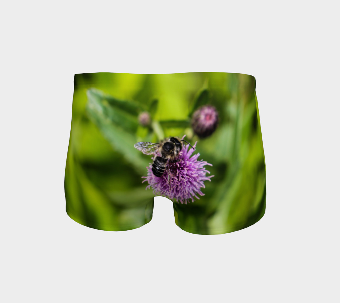 A Bee on a Purple Flower Shorts Miniature #5
