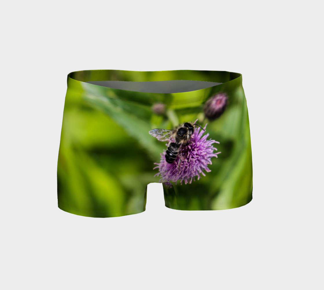A Bee on a Purple Flower Shorts Miniature #2