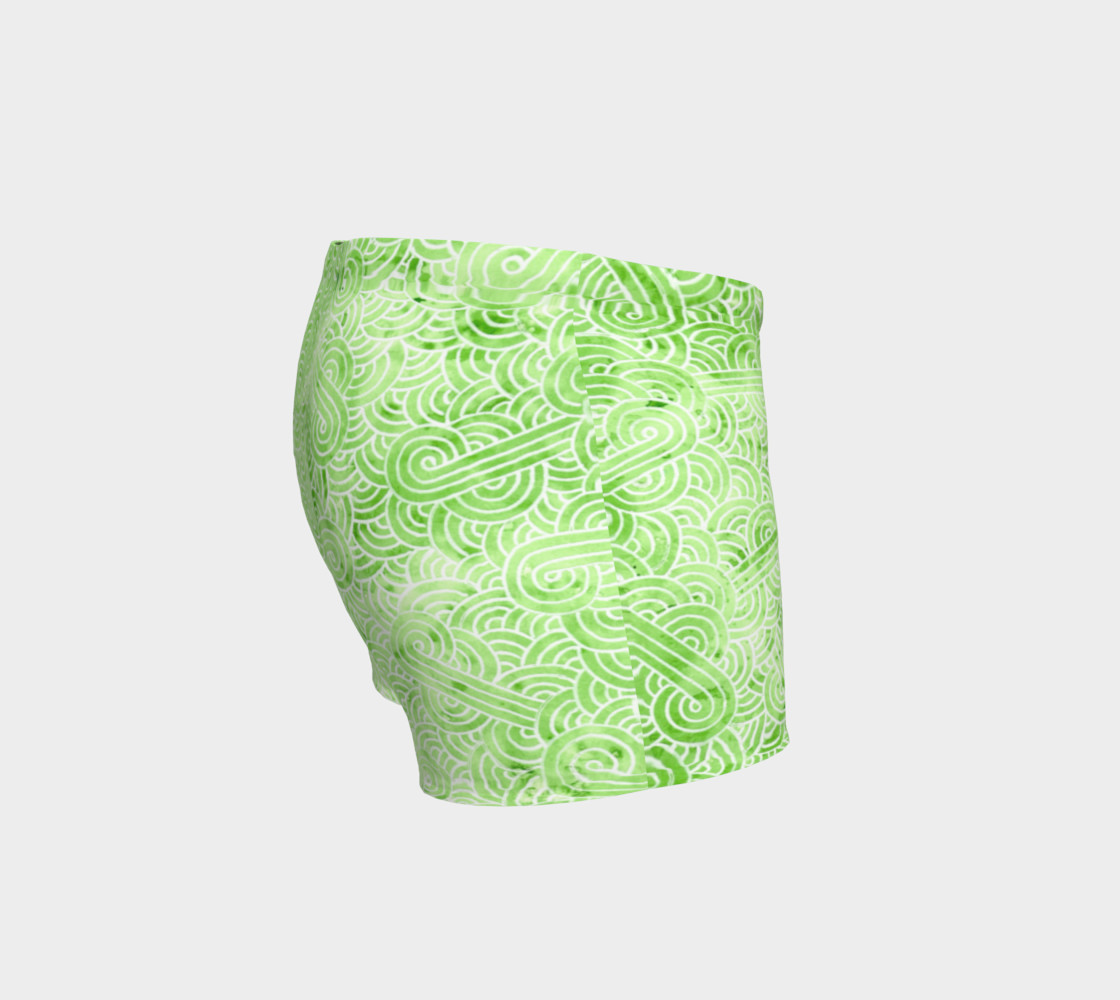 Greenery and white swirls doodles Shorts preview #3
