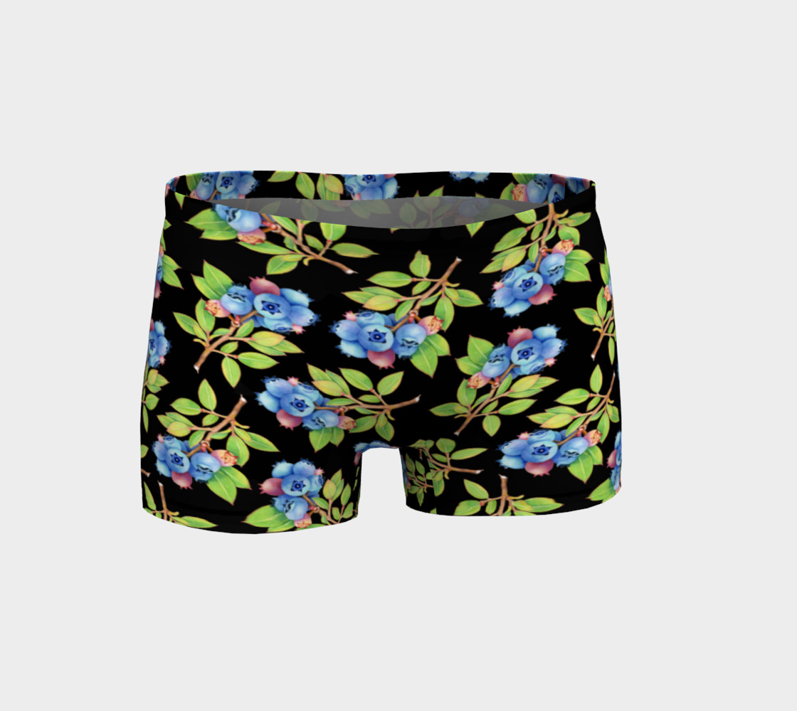 Blueberry Sprig Shorts 3D preview