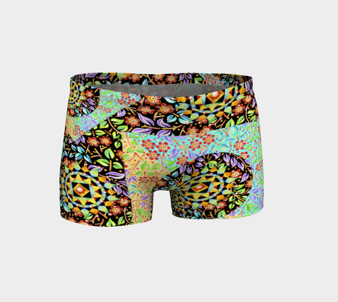 Filigree Floral Patchwork Shorts preview #1