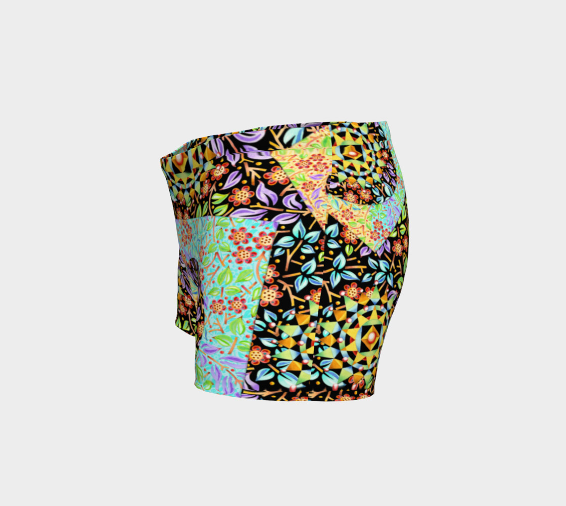 Filigree Floral Patchwork Shorts preview #2