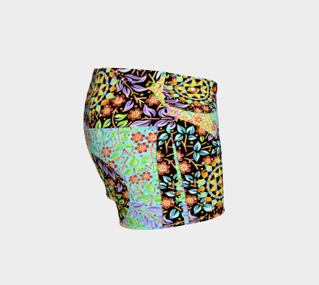 Filigree Floral Patchwork Shorts preview #3