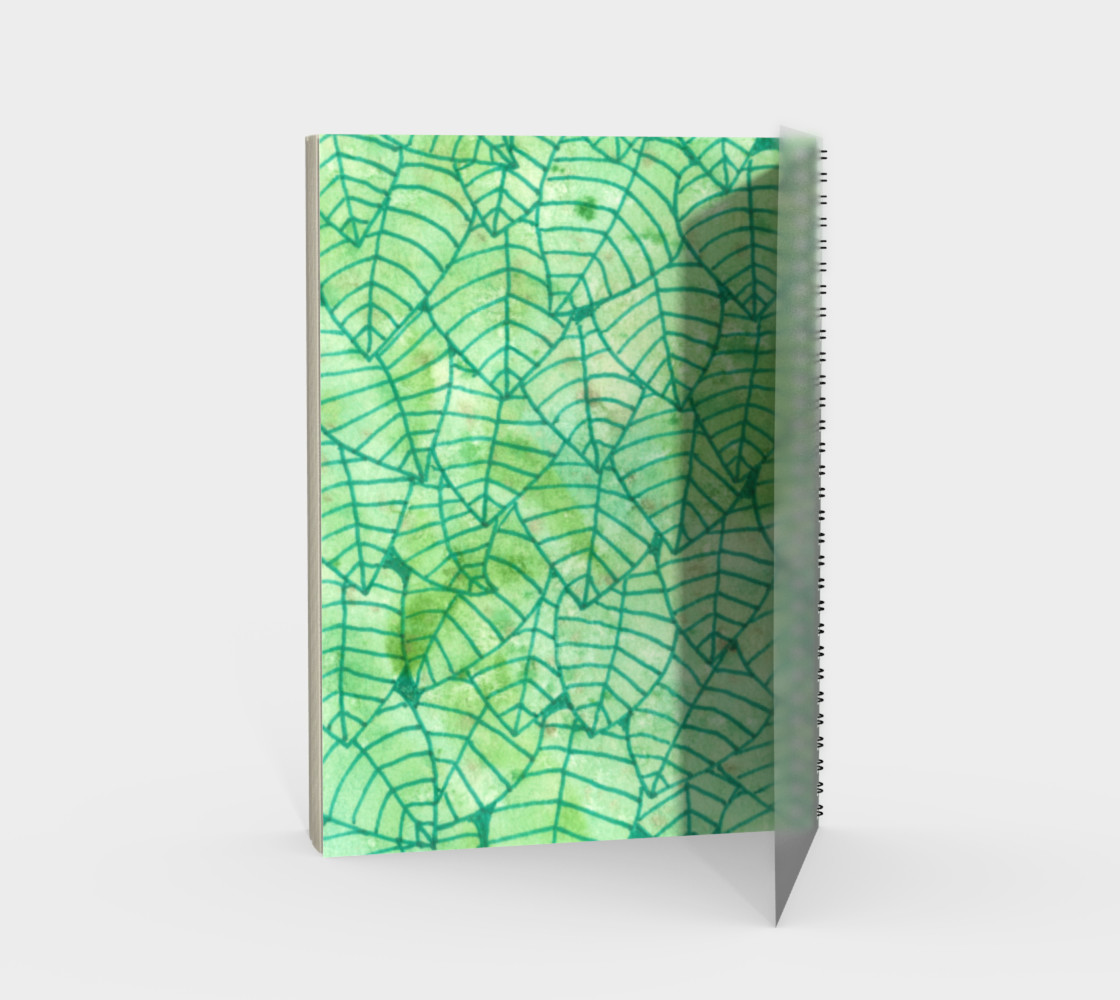 Green foliage watercolor Spiral Notebook preview #2