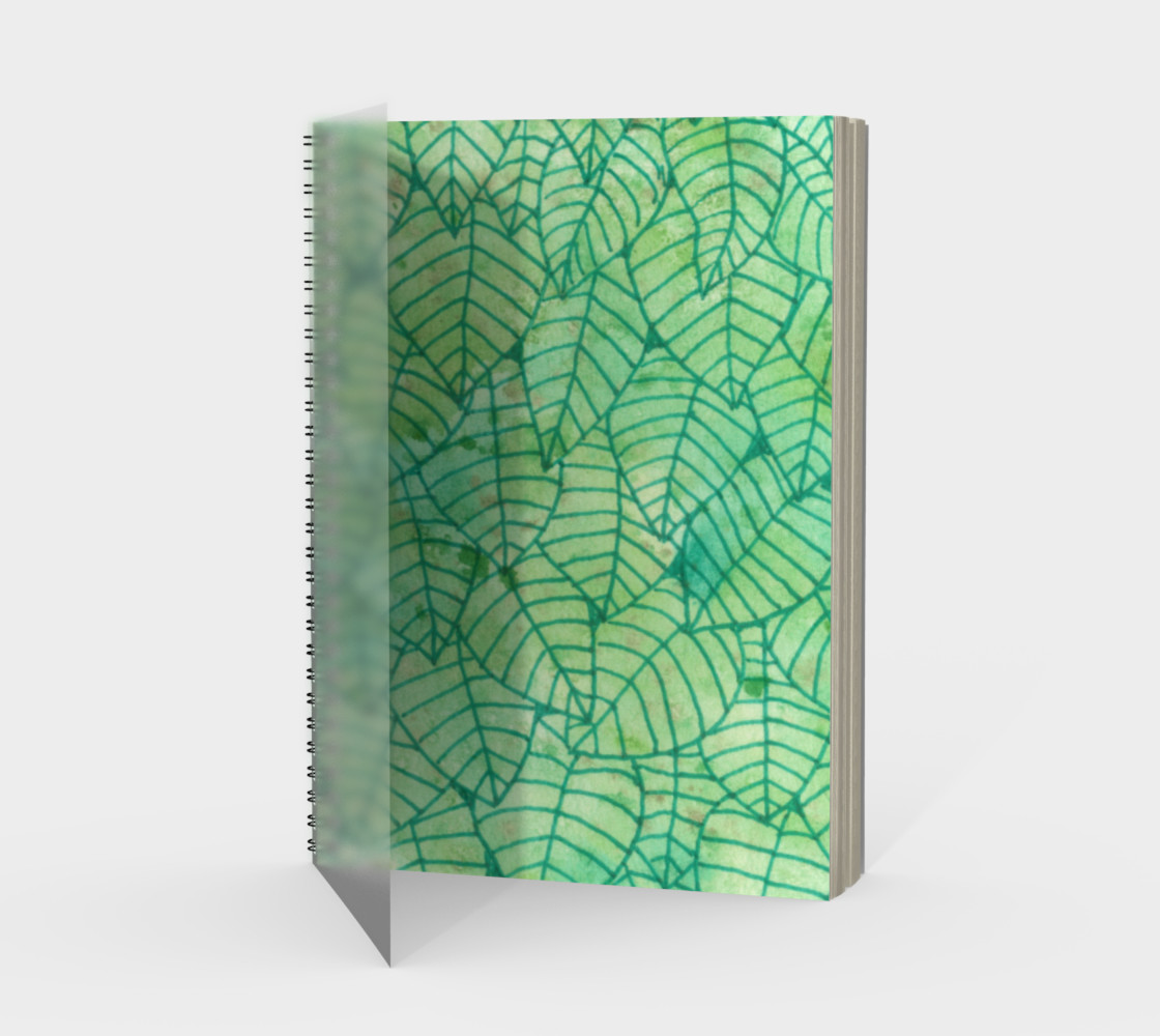 Green foliage watercolor Spiral Notebook preview #1