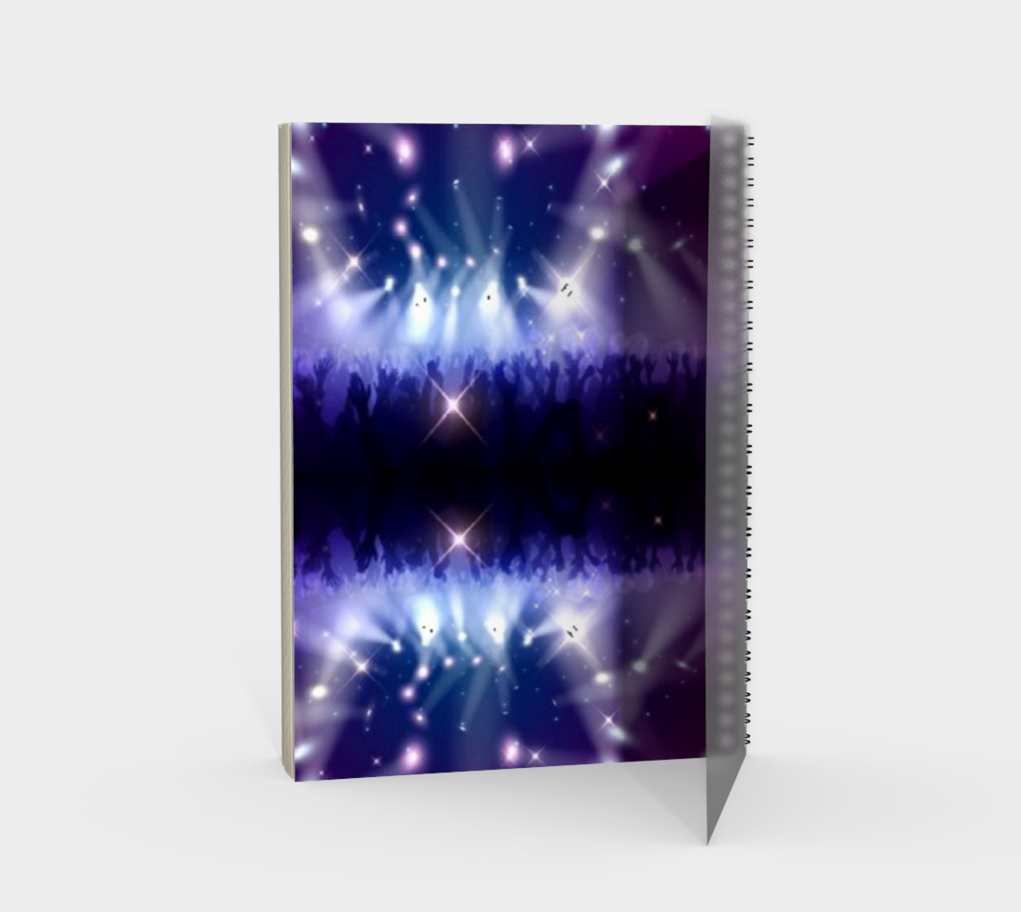 Purple and Blue Burst Spiral Notebook preview #2