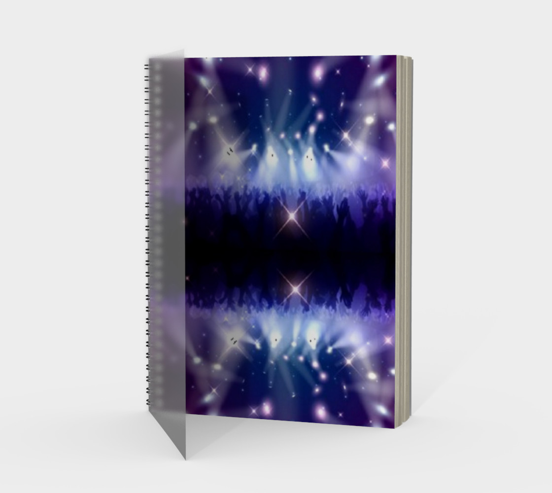 Purple and Blue Burst Spiral Notebook preview #1