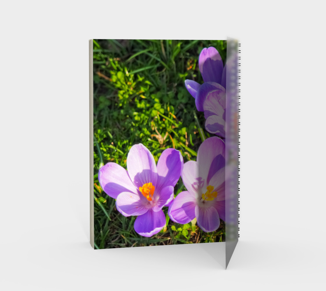 Aperçu de Purple Spring Crocus Spiral Notebook #2