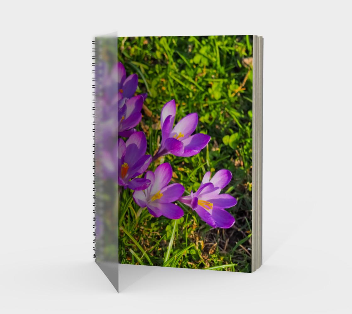 Aperçu de Purple Spring Crocus Spiral Notebook #1