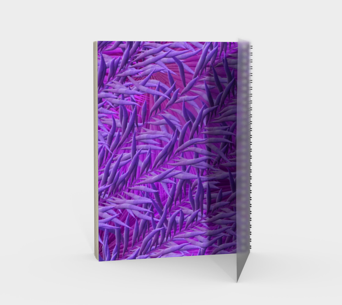 Purple Festival Sad Clown Mask Spiral Notebook preview #2