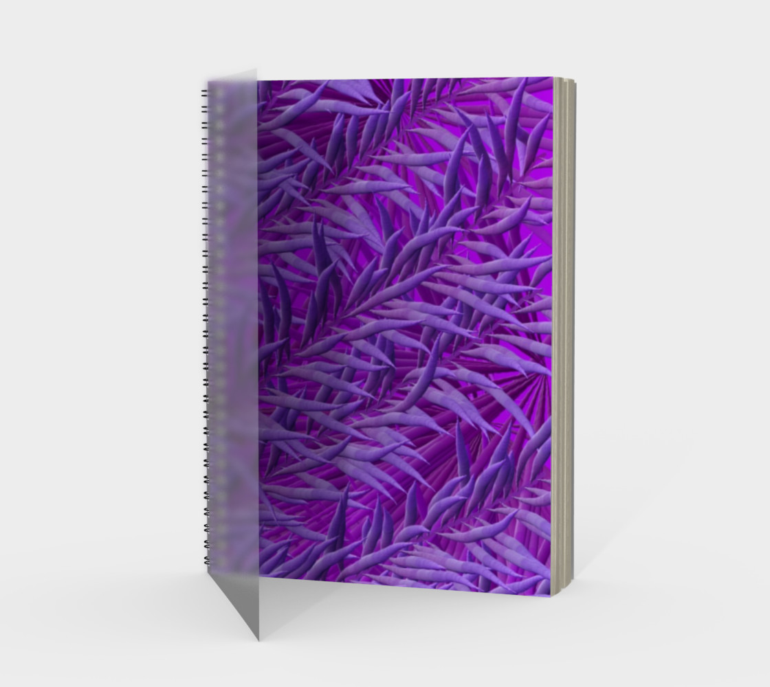 Purple Feathers Spiral Notebook preview #1