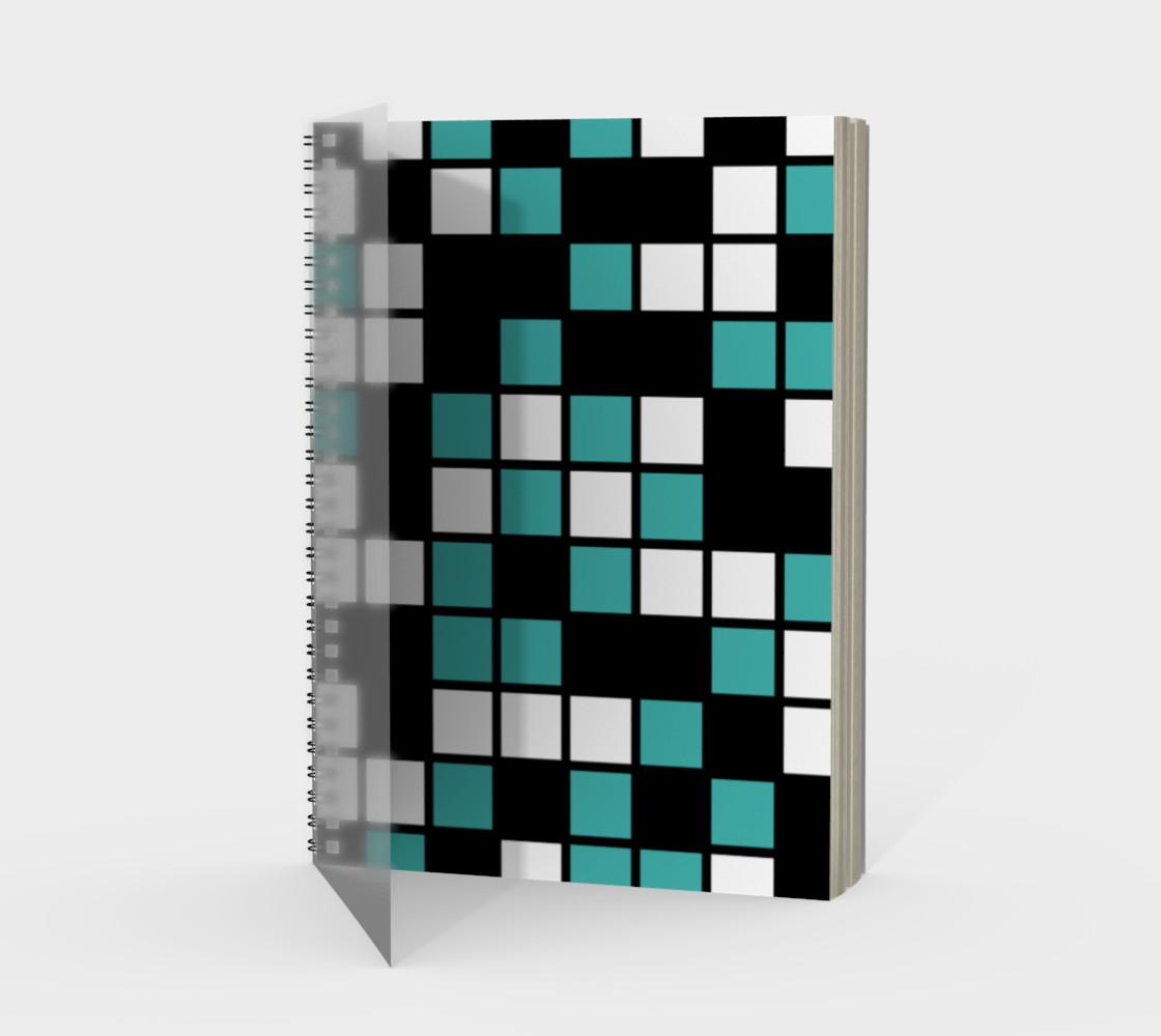 Verdigris, Black, and White Random Mosaic Squares preview #1