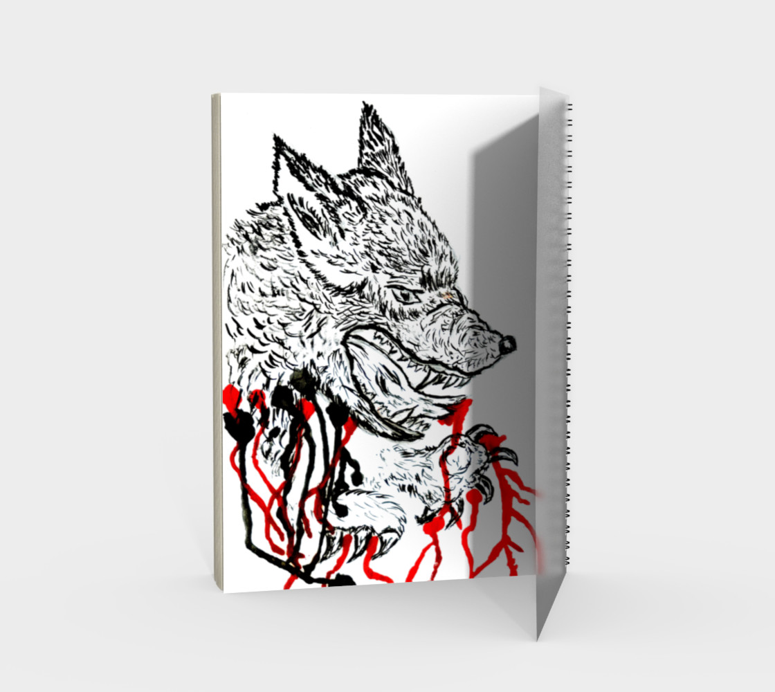 Angry wolf with red preview #2
