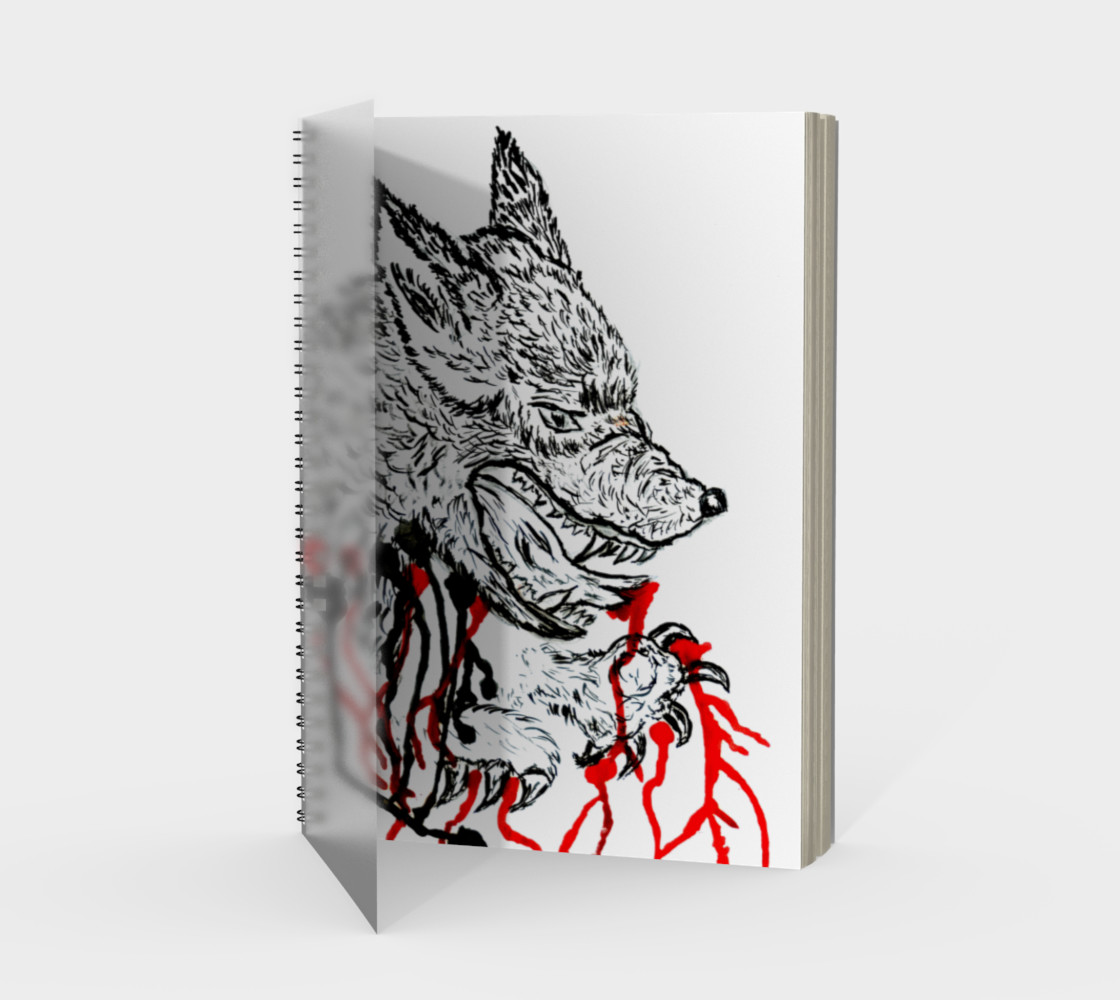 Angry wolf with red preview #1