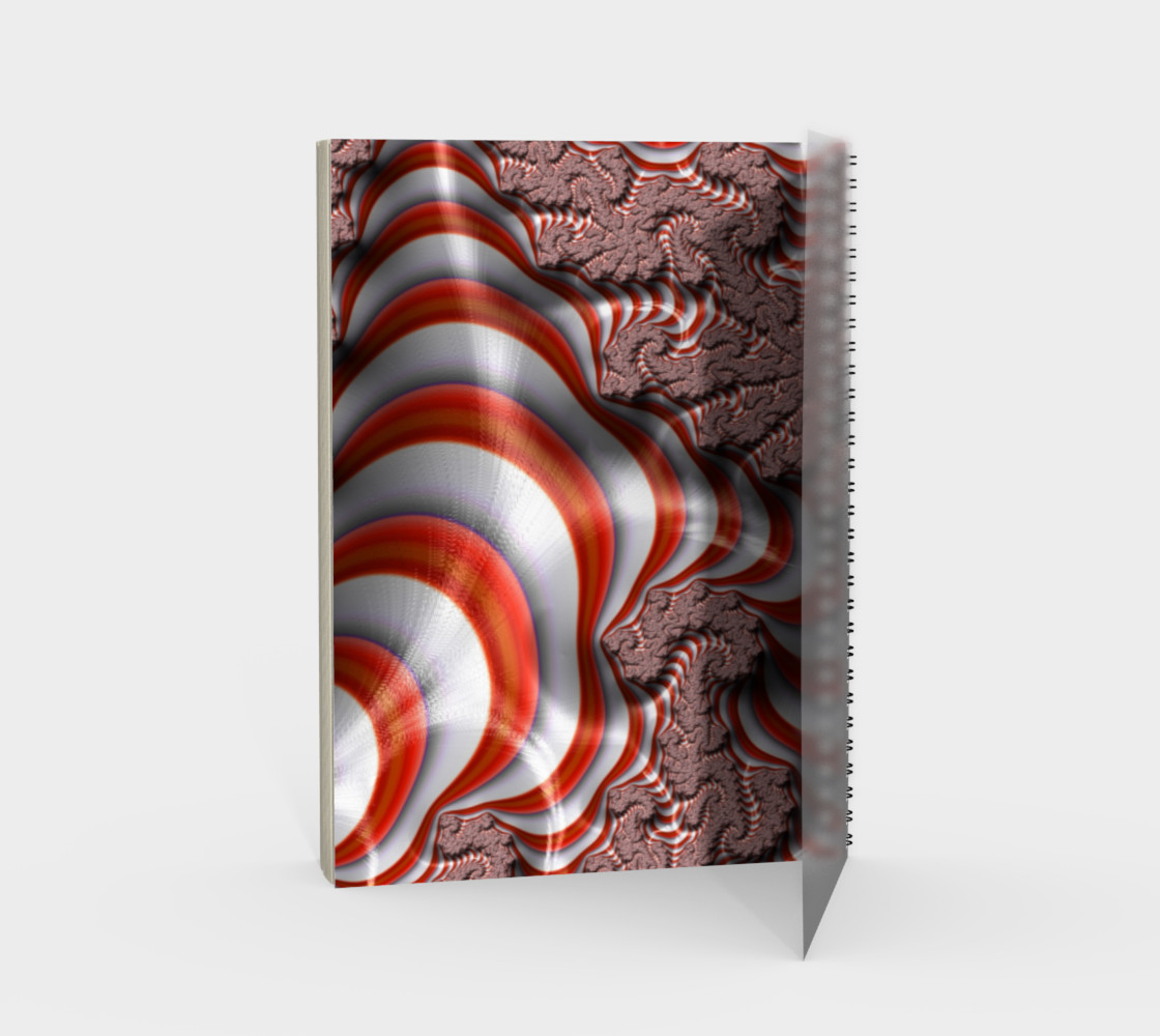 Candy Cane Fractal Spiral Notebook preview #2