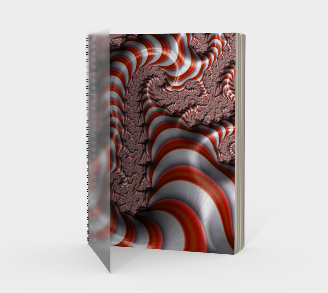 Candy Cane Fractal Spiral Notebook preview #1