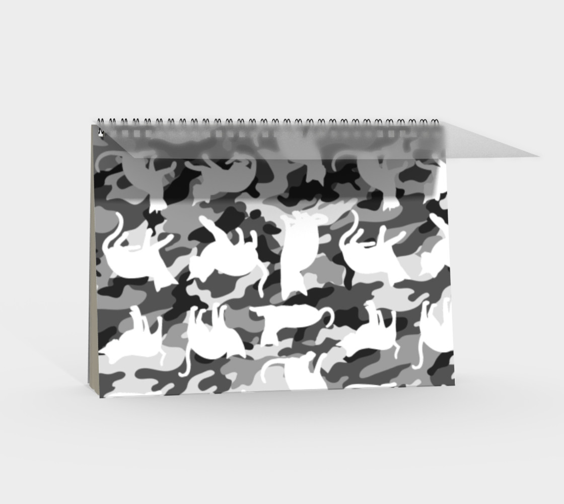 Black and White Arctic Snow Cat Catmouflage Camouflage preview #2