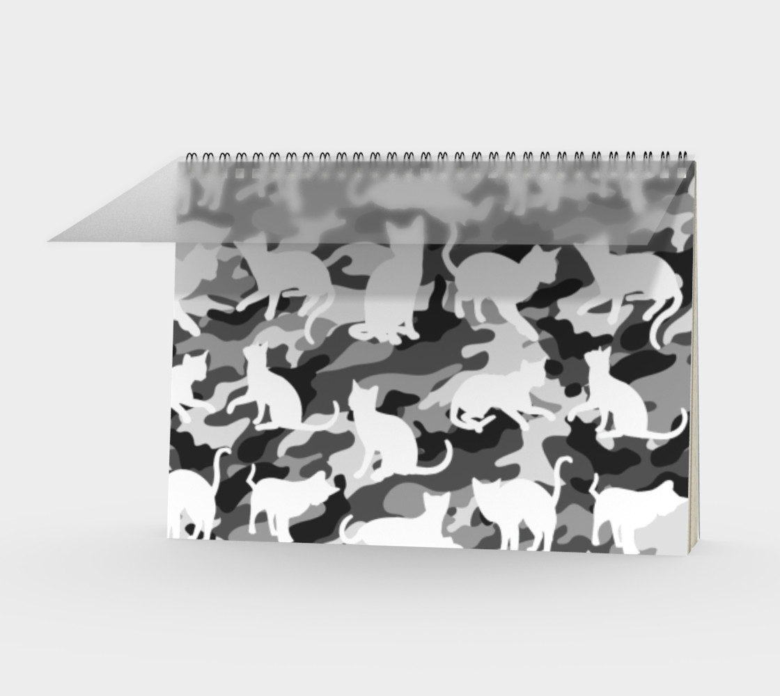 Black and White Arctic Snow Cat Catmouflage Camouflage preview #1