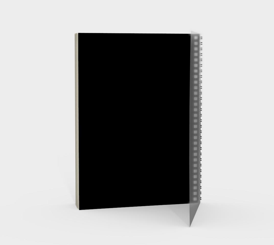 Purple Fractal on Black Spiral Notebook preview #2