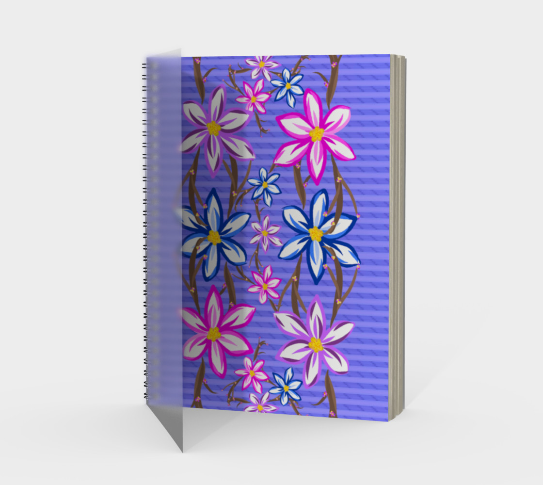 Violet Stripes with Flowers  preview #1